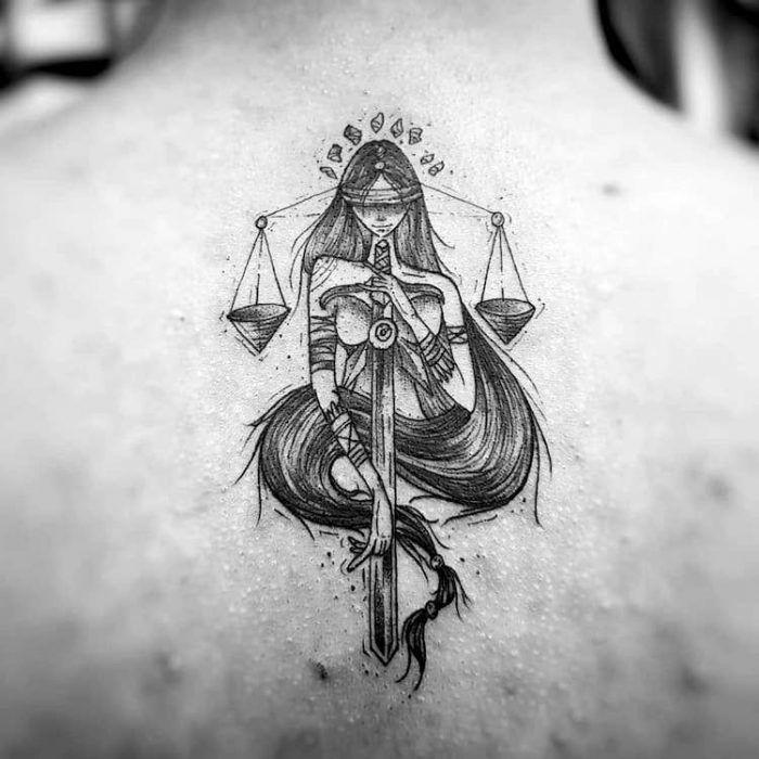 Libra Zodiac Horoscope Sign Symbol Tattoos (8)