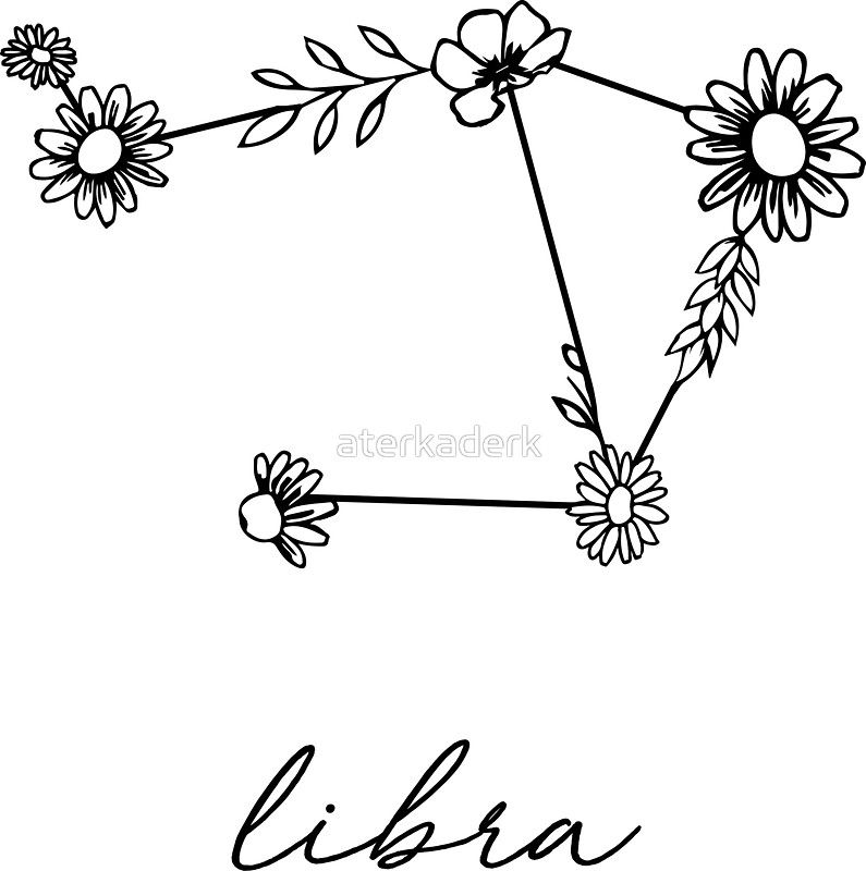 Libra Zodiac Horoscope Sign Symbol Tattoos (81)