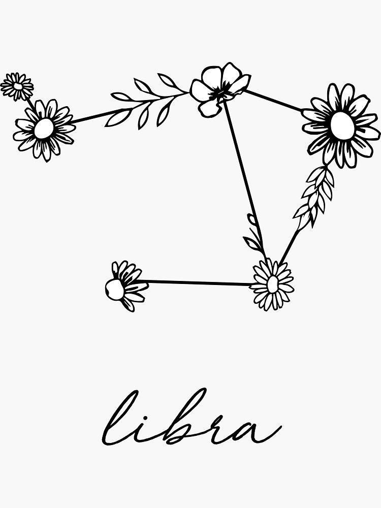 Libra Zodiac Horoscope Sign Symbol Tattoos (82)