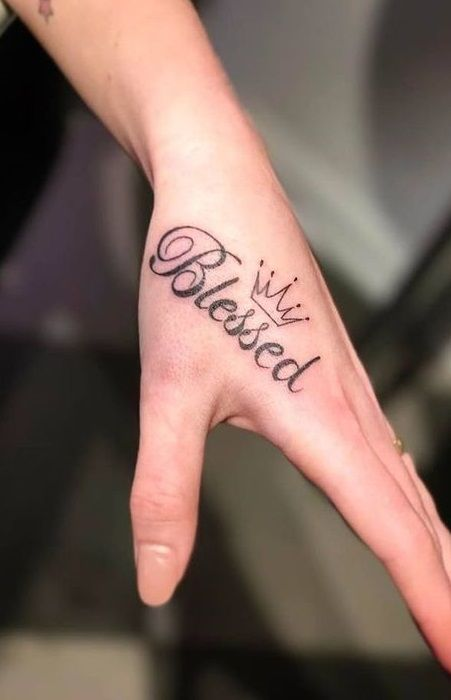 Small Simple Blessing Tattoo Designs (153)