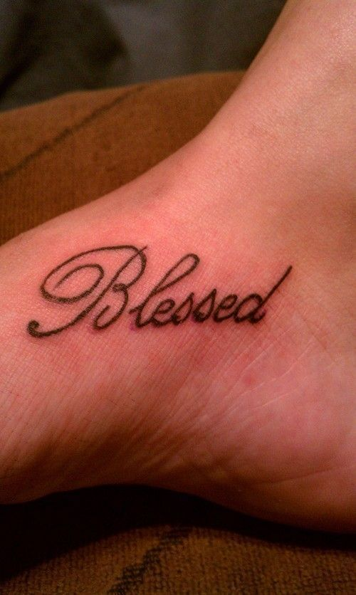 Small Simple Blessing Tattoo Designs (80)