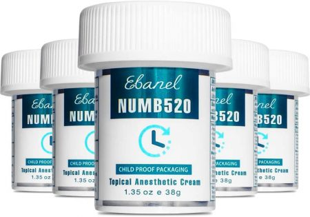 Ebanel 5 Pack 5% Lidocaine Topical Numbing Cream Maximum Strength