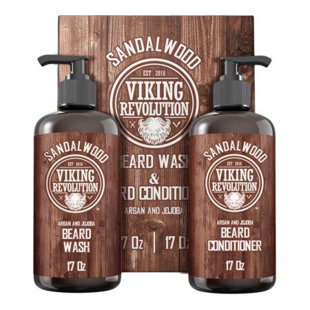 Beard Wash & Beard Conditioner Set WArgan & Jojoba Oils