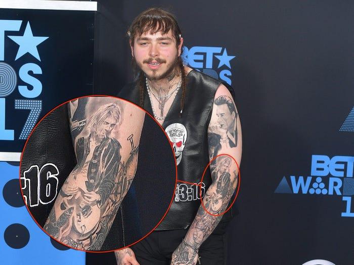 18 Guitarist Tattoo On Right Arm