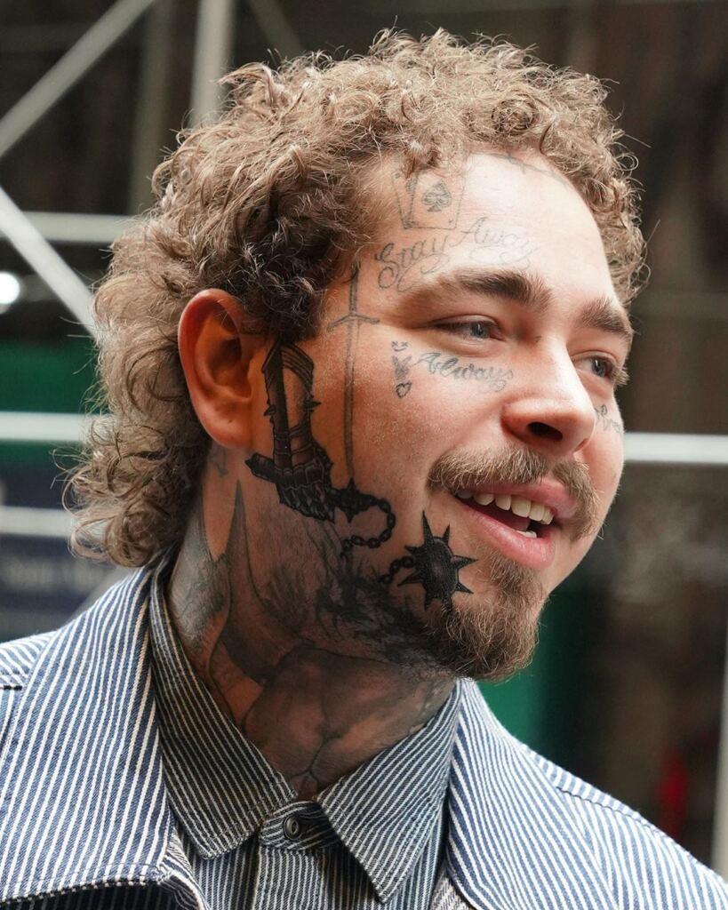 20 Warrior Tattoo On Face