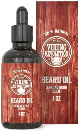 Beard Oil Conditioner All Natural Sandalwood Scent With Organic Argan & Jojoba Oils