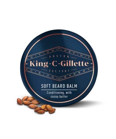 King C. Gillette Soft Beard Balm, Deep Conditioning With Cocoa Butter, Argan Oil, And Shea Butter