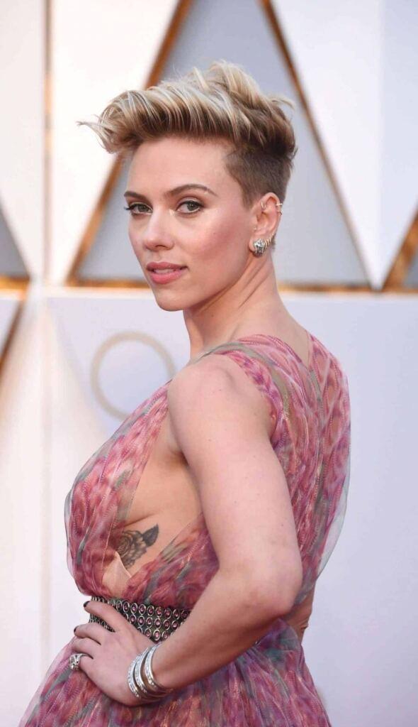 Rose Tattoo Ribcage Scarlett Johannson