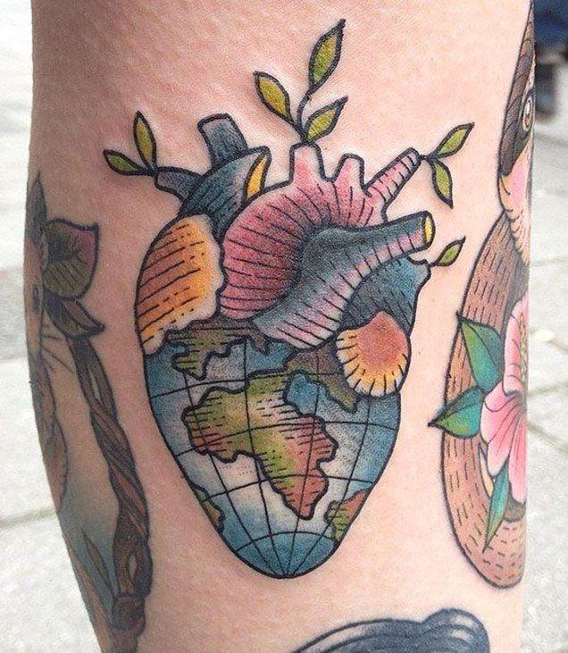 Earth Tattoo Ideas 2