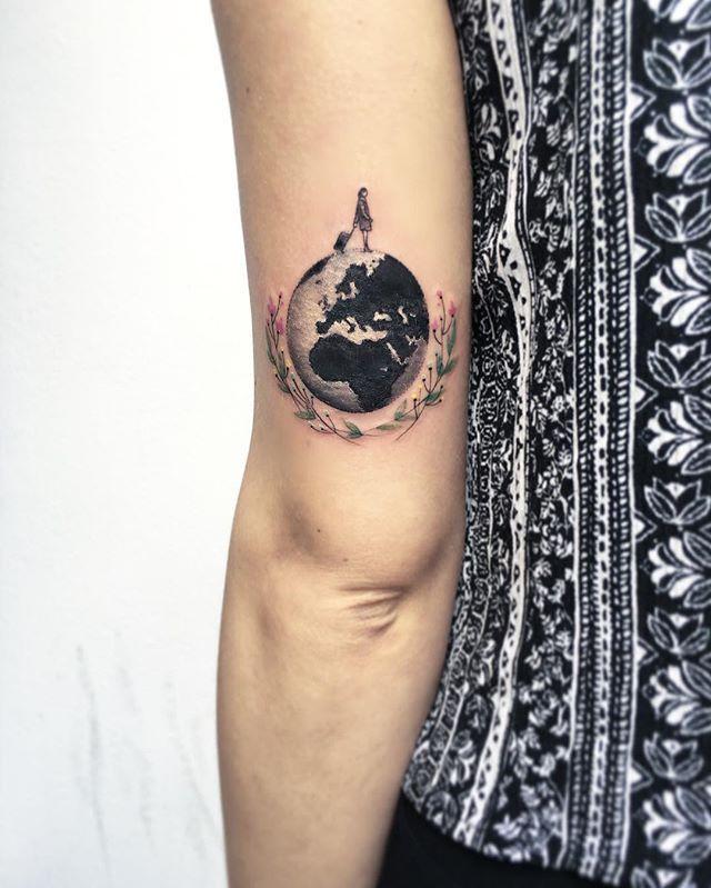 Earth Tattoo Ideas 4