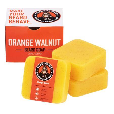 Tame's Orange Walnut Beard Soap Works As A Natural Beard Wash