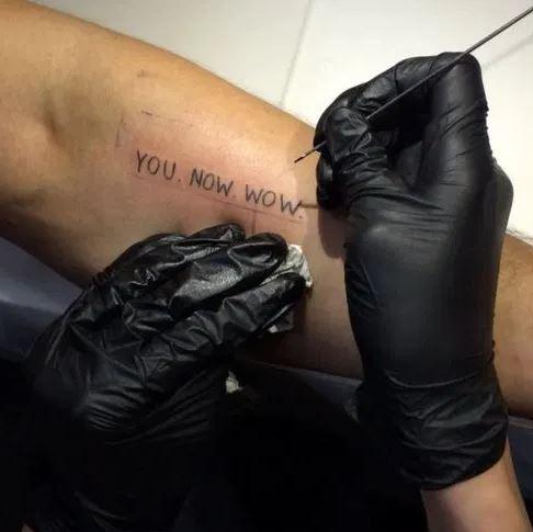 You Now Wow Tattoo Shia