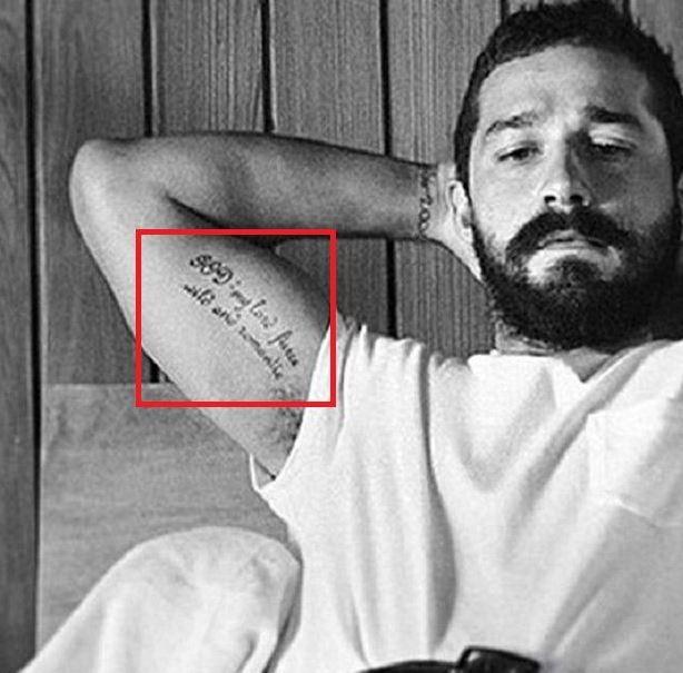 Shia La Beouff God Tattoo