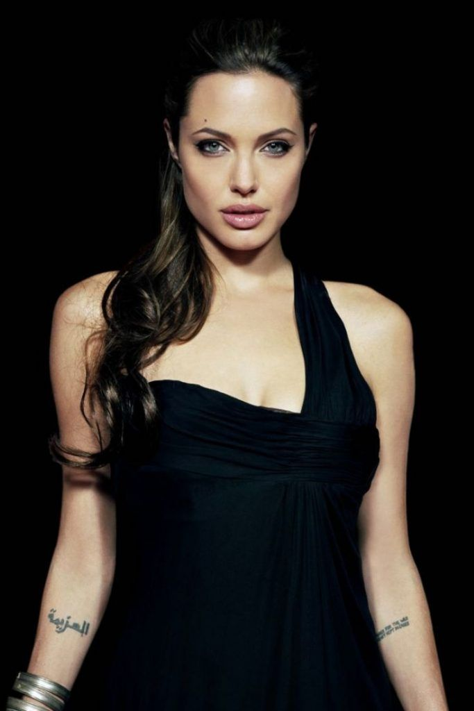 Arabic Angelina Jolie Tattoo