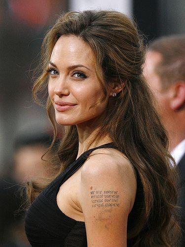 Coordinates Angelina Jolie Tattoo