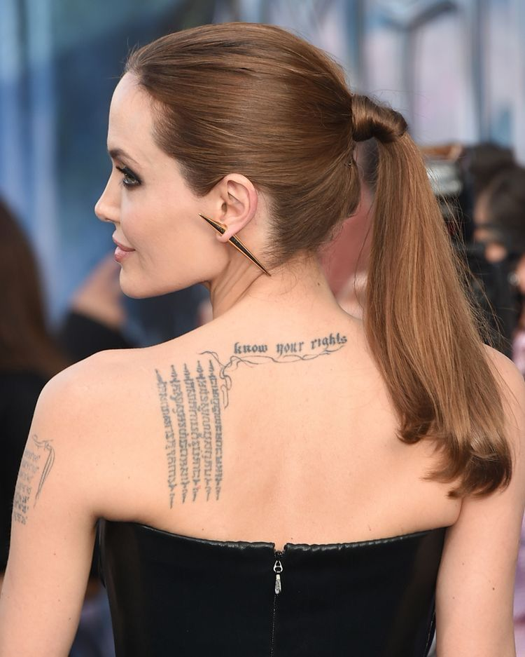 Know Your Right Angelina Jolie Tattoo