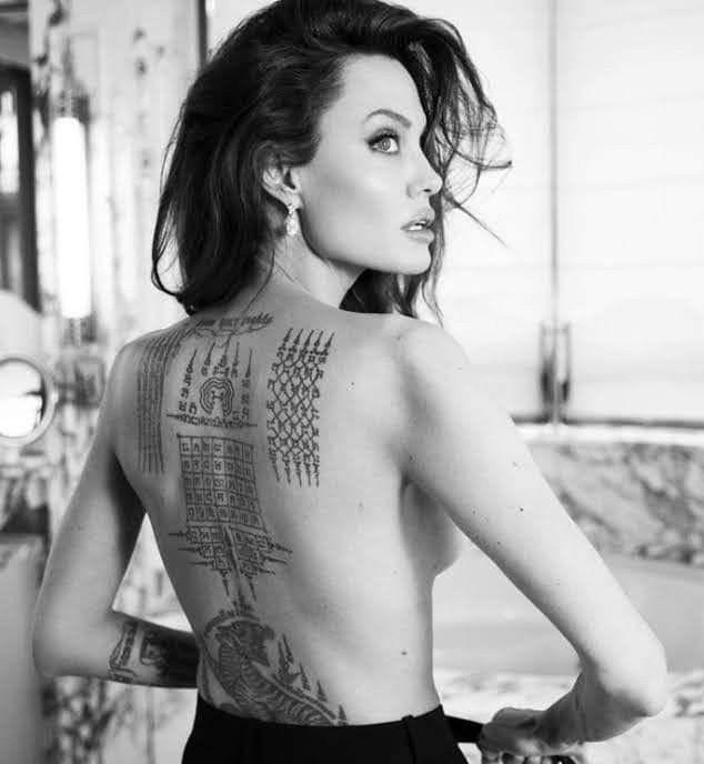 Yant Vihan Angelina Jolie Tattoo